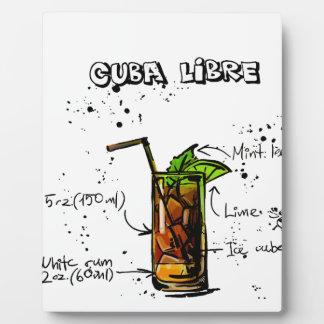 Cuba Libre Cocktail Plaque