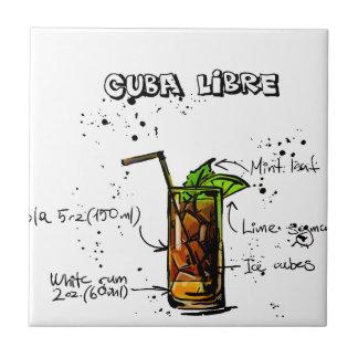Cuba Libre Cocktail Tile