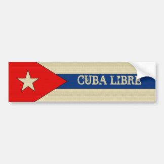 Cuba libre linen look bumper sticker