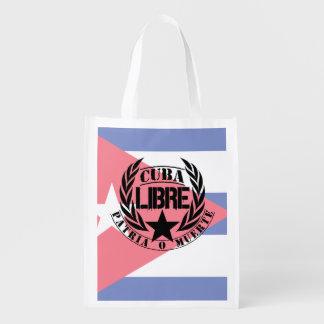 Cuba Libre Motto Laurels Grocery Bag