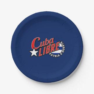 Cuba Libre Motto Paper Plate