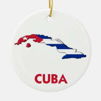 CUBA MAP CHRISTMAS TREE ORNAMENT