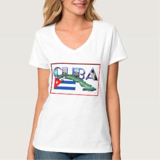 Cuba Map Flag T-Shirt