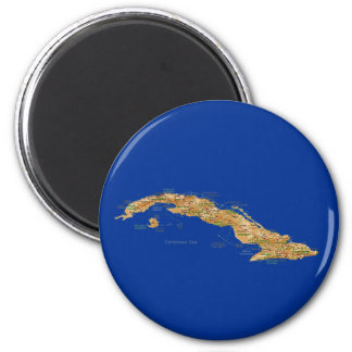 Cuba Map Magnet
