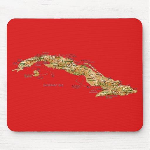 Cuba Map Mousepad