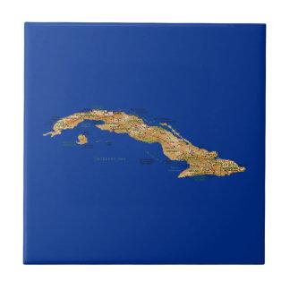 Cuba Map Tile
