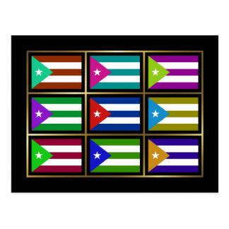 Cuba Multihue Flags Postcard