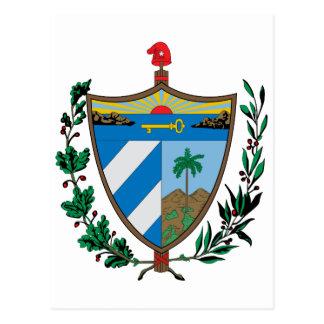 Cuba Official Coat Of Arms Heraldry Symbol Postcard