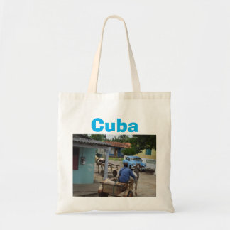 Cuba Old Car Country Scene Tote Bag