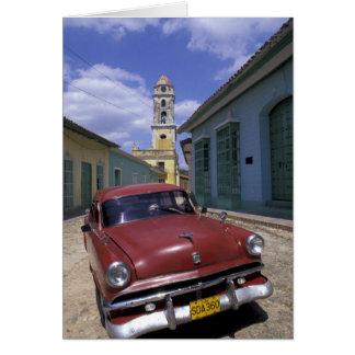 Cuba, old colonial village of Trinidad. Card