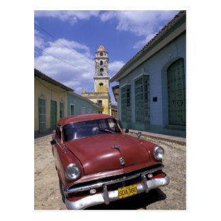 Cuba, old colonial village of Trinidad. Postcard