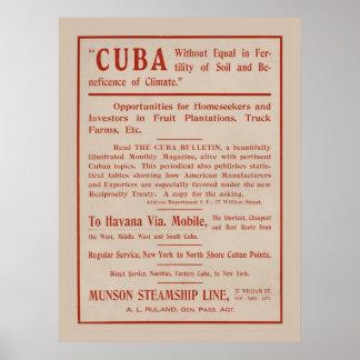 Cuba Opportunities Advertisement Poster