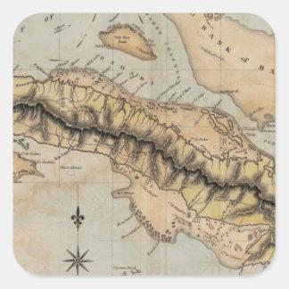Cuba Calcomania Cuadradas
