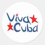 Cuba Pegatinas Redondas