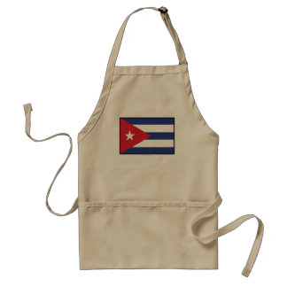 Cuba Plain Flag Adult Apron
