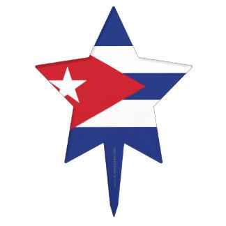 Cuba Plain Flag Cake Pick