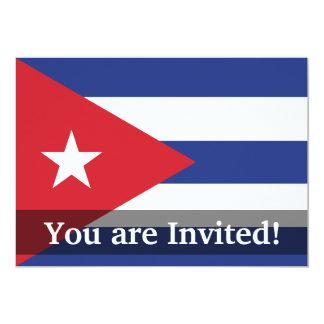 Cuba Plain Flag Personalized Invitation