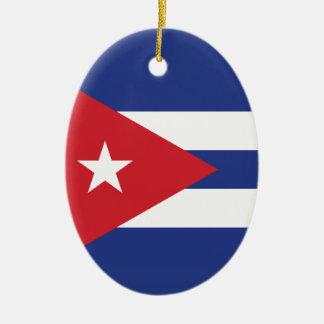 Cuba Plain Flag Ornament