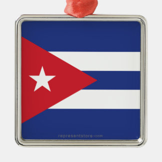 Cuba Plain Flag Christmas Ornaments