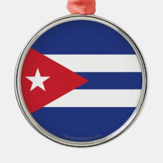 Cuba Plain Flag Christmas Ornament