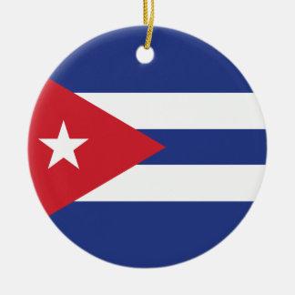 Cuba Plain Flag Christmas Tree Ornaments