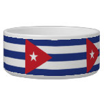 Cuba Plain Flag Pet Bowls