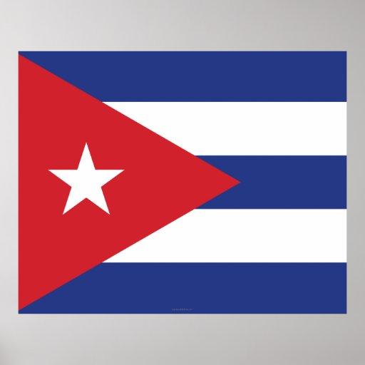Cuba Plain Flag Print