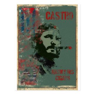 Cuba Propaganda Castro Postcard