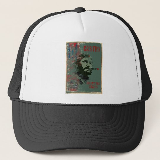 Cuba Propaganda Castro Trucker Hat