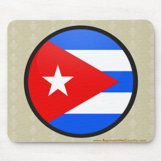 Cuba quality Flag Circle Mouse Pad
