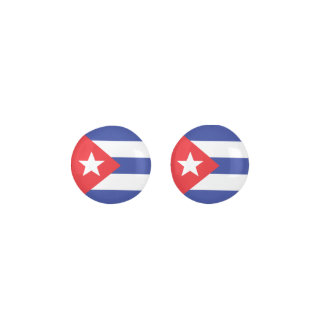 CUBA Red Blue And White Star Flag Earrings