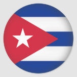 Cuba redonda etiqueta redonda