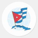 Cuba Round Stickers