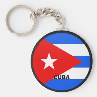 Cuba Roundel quality Flag Key Chains
