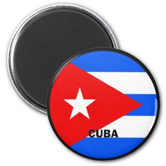 Cuba Roundel quality Flag Magnet