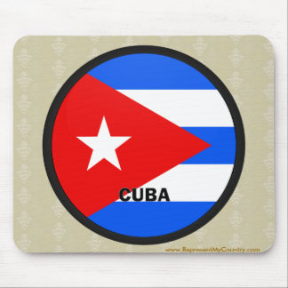 Cuba Roundel quality Flag Mouse Pad