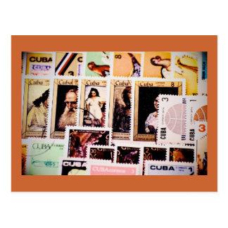Cuba, sellos del vintage, postales