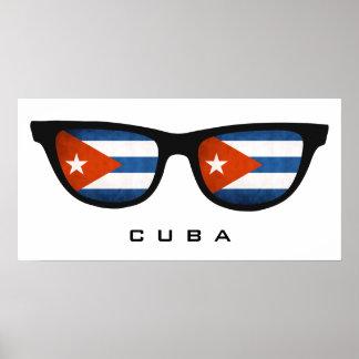 Cuba Shades custom text & color poster