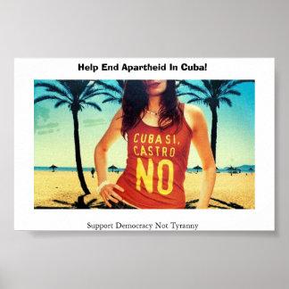 Cuba Si Castro ningún Posters