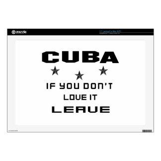 Cuba si usted no la ama, se va calcomanía para 43,2cm portátil