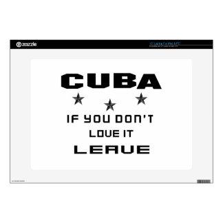 Cuba si usted no la ama, se va skins para portátiles