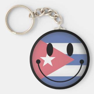 Cuba Smiley Keychain