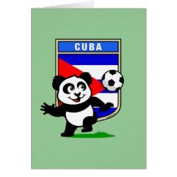 Greeting Card with Cuba Football Panda design