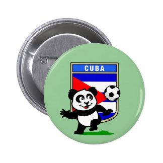 Cuba Soccer Panda Pin