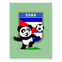 Postcard with Cuba Football Panda design