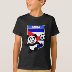 Kids' Hanes TAGLESS® T-Shirt with Cuba Football Panda design