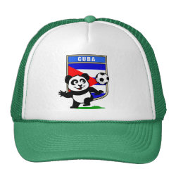 Trucker Hat with Cuba Football Panda design