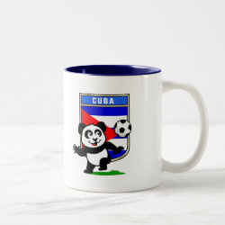 Two-Tone Mug with Cuba Football Panda design