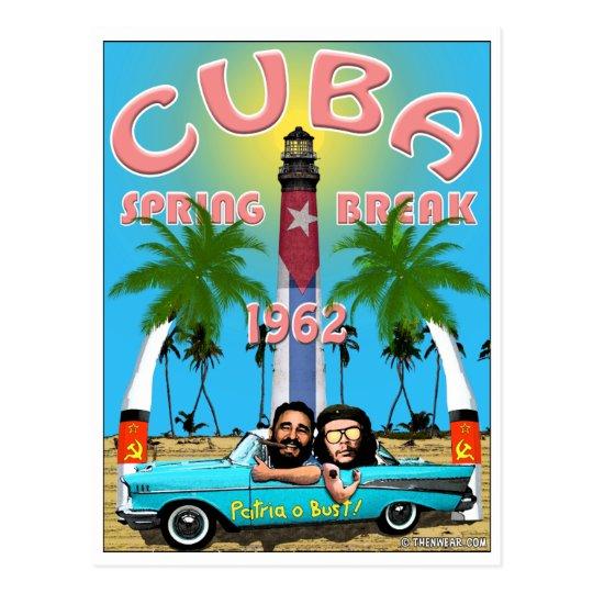 Cuba Spring Break 1962 Travel Postcard