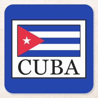 Cuba Square Paper Coaster